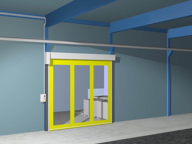 Renderung – Schnelllauftor-Aluminium (SLT-A)