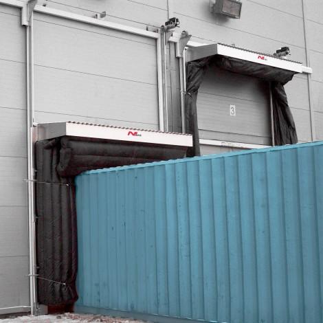 Containerlogistik – Aufblasbare-Torabdichtung (A-TAD)