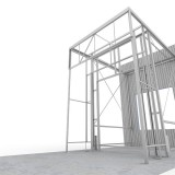 4. Put in Front steel structure
