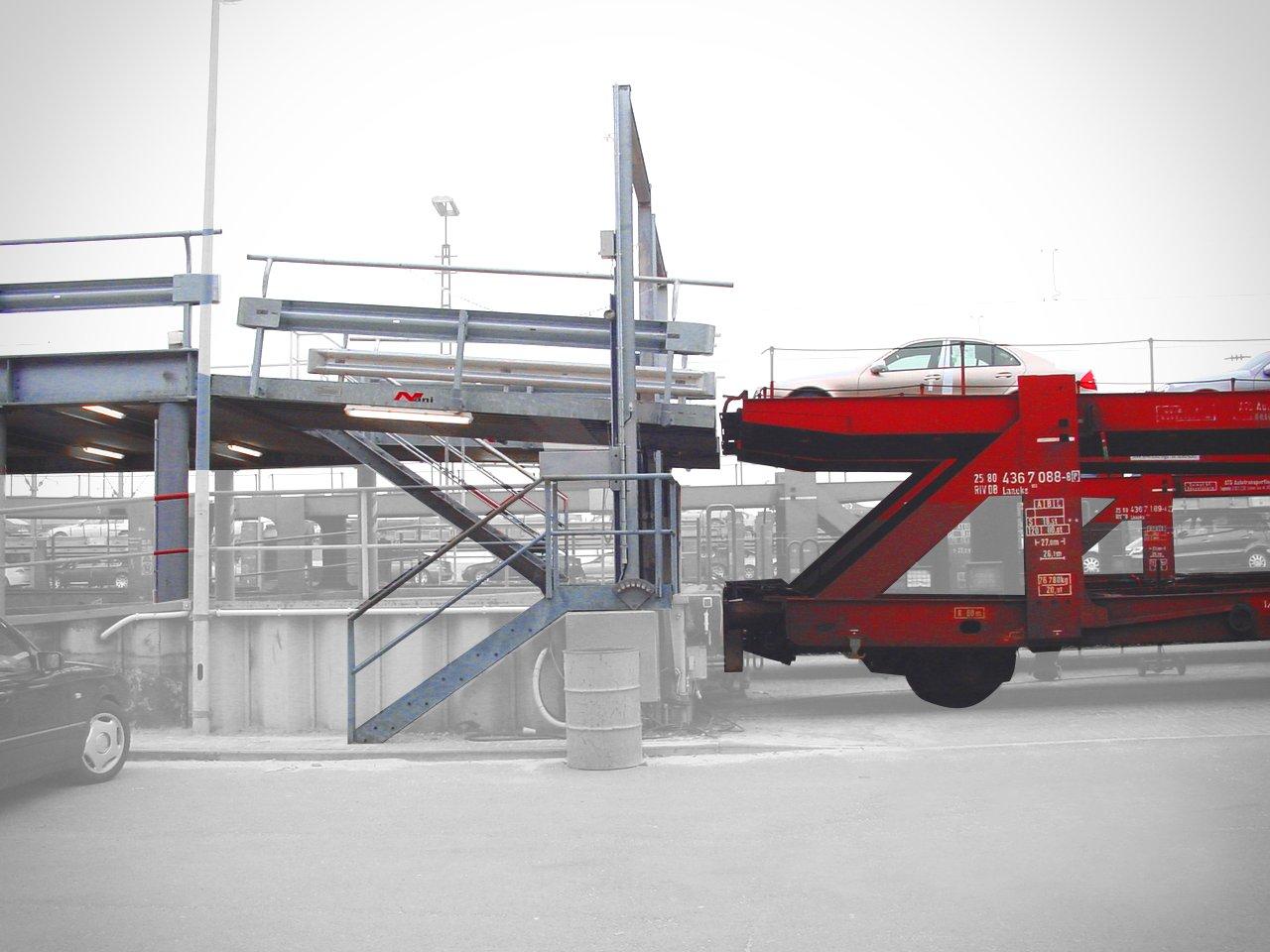 Bahnverladung in der Hafenlogistik