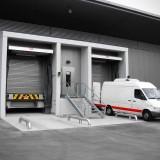 Thermoschleusen – Cooldock-Schleusen mit Treppenaufgang und Einfahrhilfen