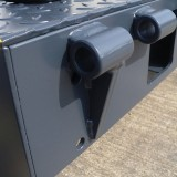 Front hinge plate with hinged lip connector (KBM)