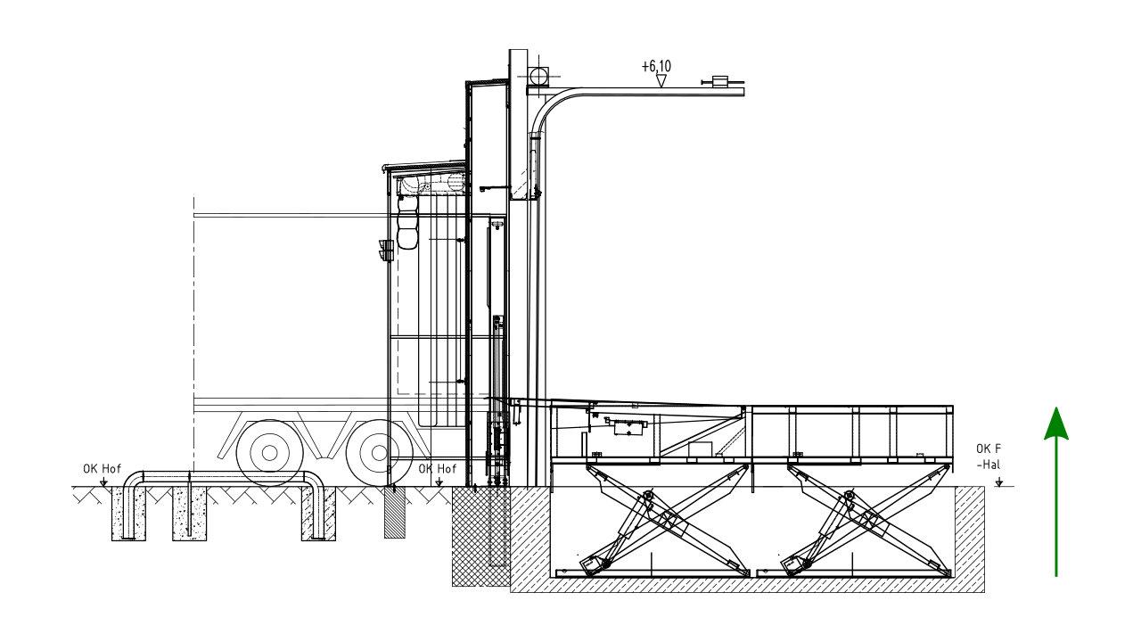 Ground-level loading - Nani-Scissor Lift Table-Combination HTVB