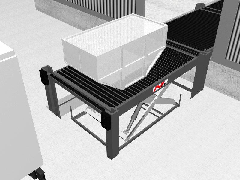 Hebetechnik – Truck Dock mit Container