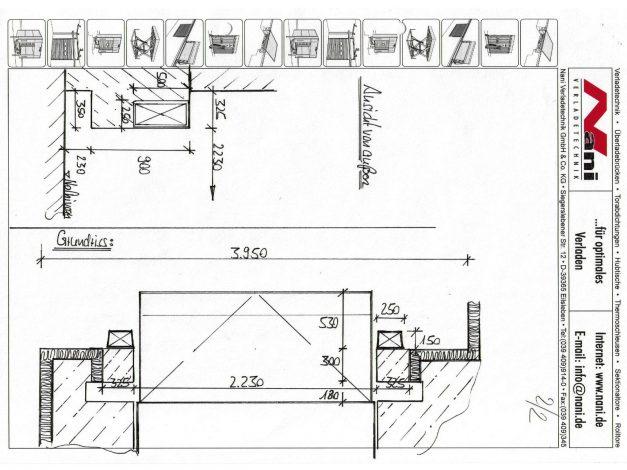 Aufmass-Zeichnung
