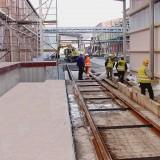 Grubeneinfassung für Brücken in der Bahnverladung