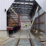 Demiryolu taşımacılığında yükleme rampalarının montajı