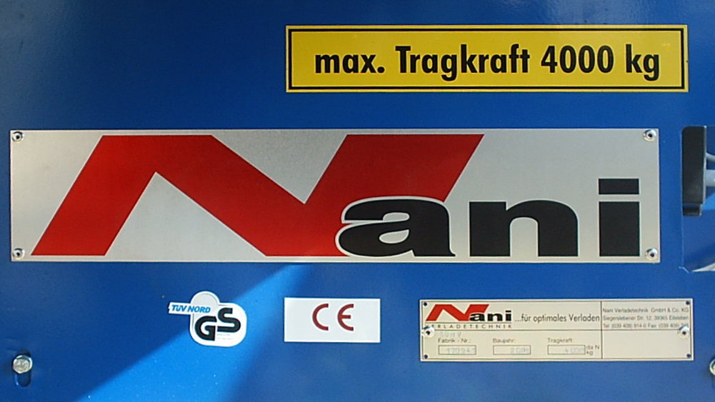 Nani - certified Labels an type signs