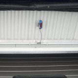 Sensor in front of sectional door