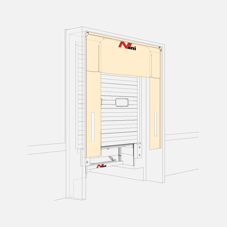 Lamella Upper-Curtain Dockshelter (LP-TAD-V)