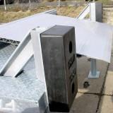 Anfahrpuffer einer Seitlich-Verschiebbare-Aluminiumbrücke (SV-A)