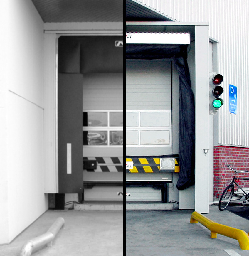 before/after – Gate Weather Protection