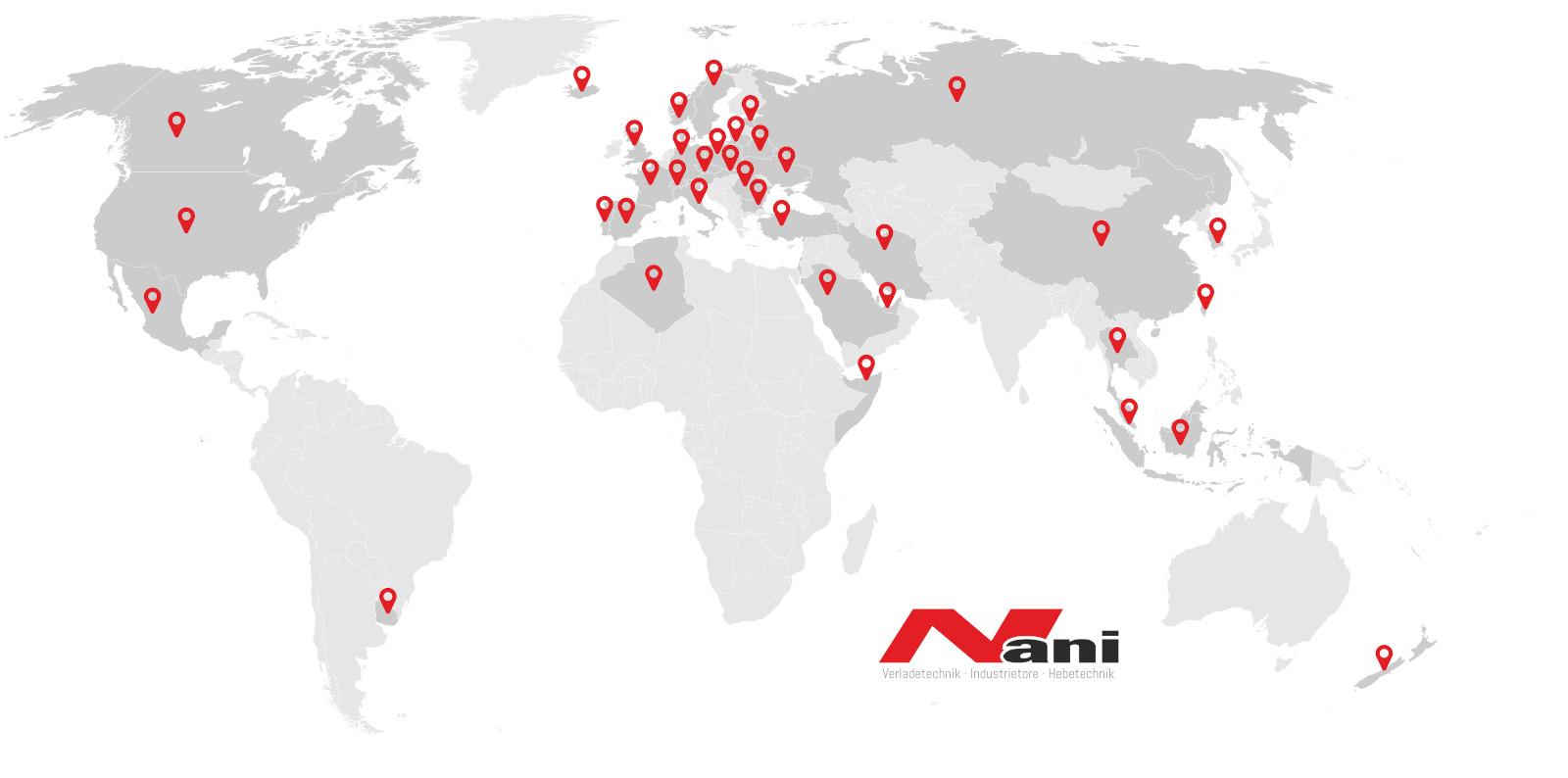 Nani - Globale Präsenz
