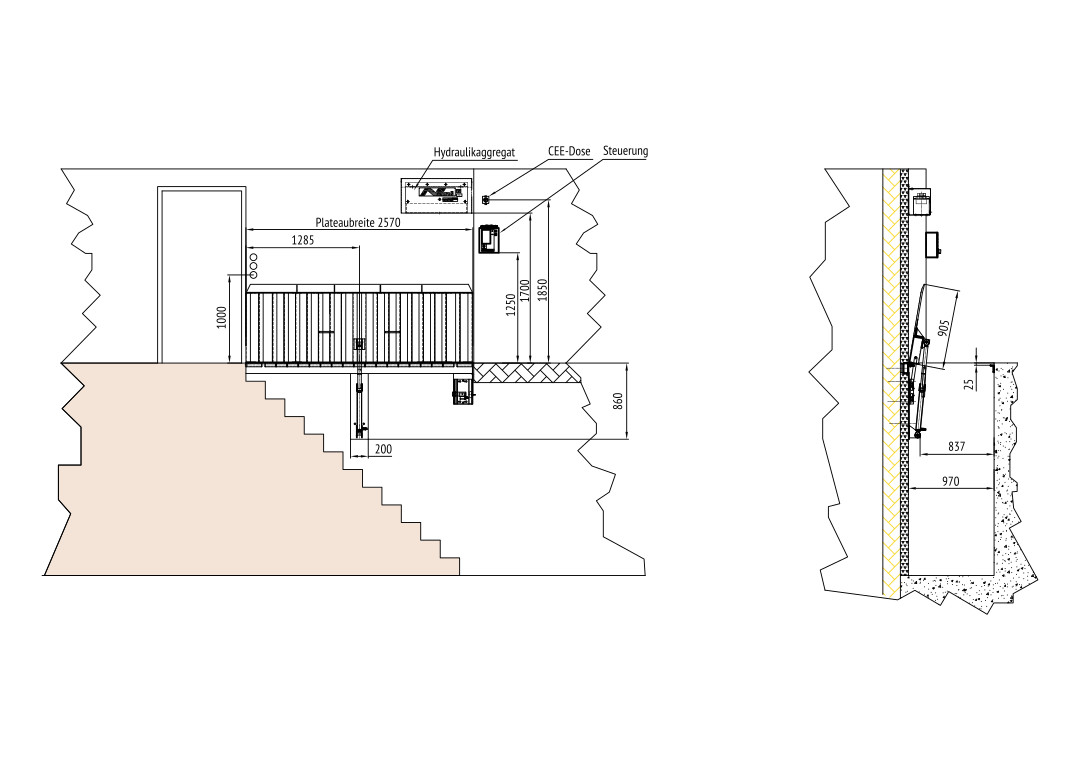 Stairwell Cover – Technical drawing